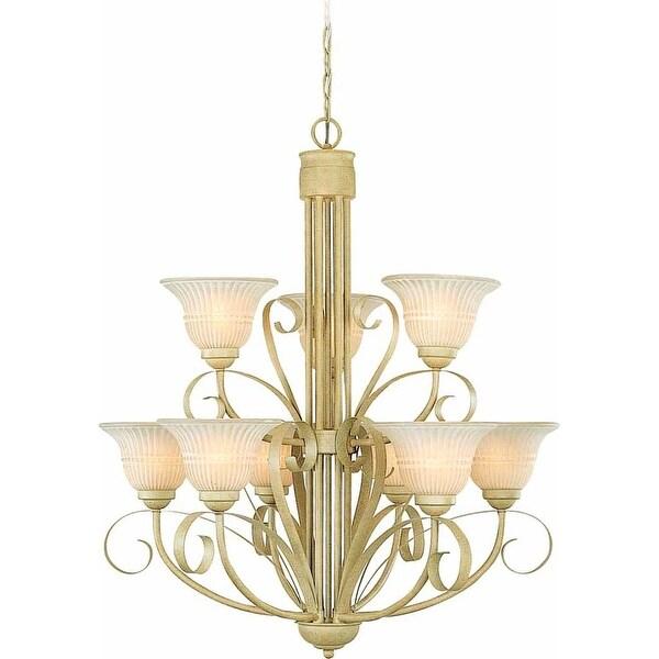 Volume Lighting V3329 Florentia 9 Light 2 Tier Chandelier