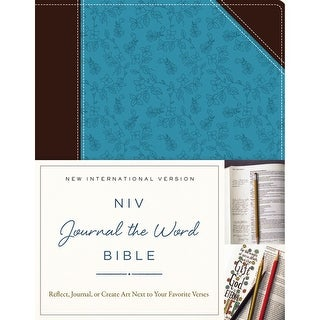 Chocolate/Turquoise-Niv Journal The Word Bible
