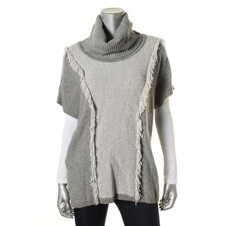 Lafayette 148 Womens Wool Fringe Pullover Sweater