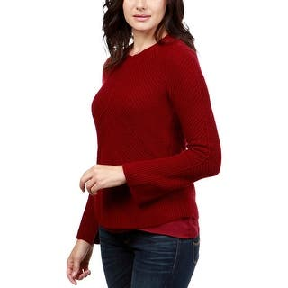Lucky Brand Womens Nico Pullover Sweater Cashmere Blend Crewneck