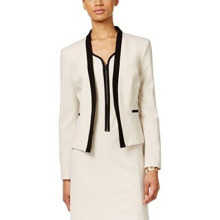 Nine West Womens Open-Front Blazer Colorblock Long Sleeves