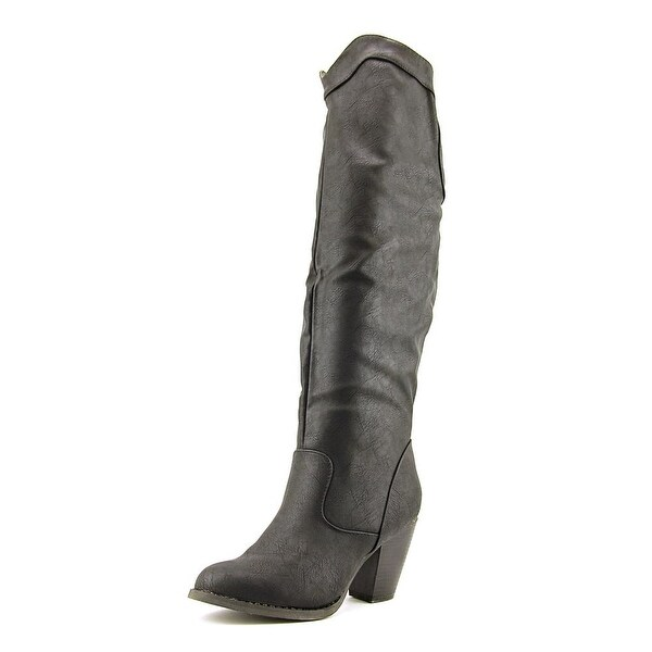 Vybe Rodeo Women Pointed Toe Synthetic Black Knee High Boot