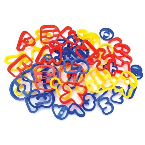 Wilton W1054 Plastic Cookie Cutters ABC and 123 - 50 per Pack