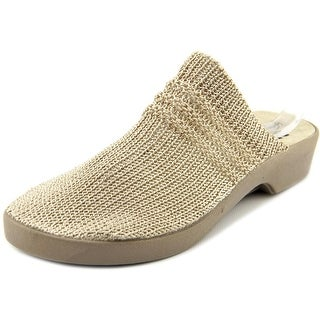 Spring Step Elisha Women Round Toe Canvas Ivory Mules