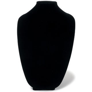"3D Necklace Display Form 15""-Black Velvet"