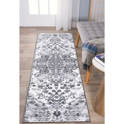 Transitional Medallion Non Skid Area Rug