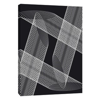 "PTM Images 9-105839  PTM Canvas Collection 10"" x 8"" - ""Linear Motion 4"" Giclee Abstract Art Print on Canvas"