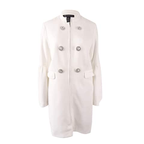 INC International Concepts Women's Bell-Sleeve Ponte-Knit Coat (M, Washed White) - Washed White - M