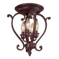 Millennium Lighting 1224 Oxford 4-Light Semi-Flush Ceiling Fixture - Rubbed Bronze - N/A