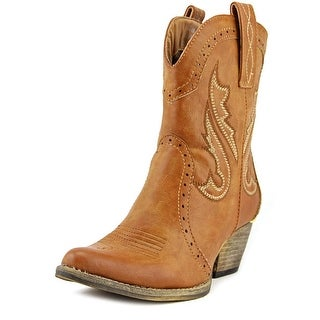 Very Volatile Markie Women Pointed Toe Synthetic Tan Western Boot