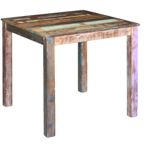 """vidaXL Dining Table Solid Reclaimed Wood 31.5""""x32.3""""x30"""" - multi-color"""