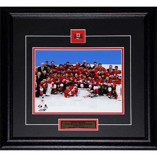 Midway Memorabilia 2014 Team Canada Mens Hockey Gold Medal 8X10 Frame