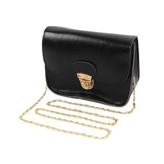 Women New Mini Cute Hasp Chain Crossbody Shoulder Messenger Bag Black