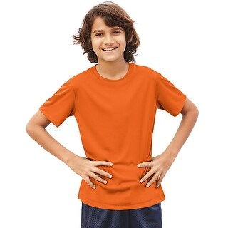 Hanes Cool DRI® Youth T-Shirt - Size - M - Color - Safety Orange