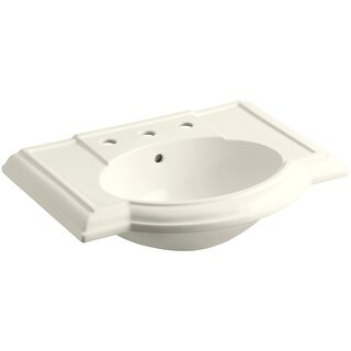"Kohler K-2295-8  Devonshire 27"" Vitreous China Pedestal Bathroom Sink with 3 Faucet Holes at 8"" Centers and Overflow"