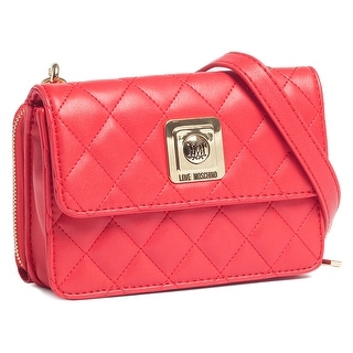 Moschino JC4118 0505 Red Crossbody/Wallet on a Chain Bag - 7.5-5-2.5