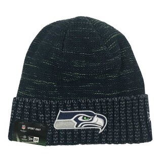 New Era Seattle Seahawks Knit Beanie Cap Hat Official NFL 2017 Kickoff 11461122