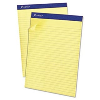 Recycled Writing 8.5 x 11.75 Pads, Canary - 50 Sheets
