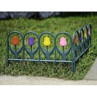 Decorative 4 Piece Tulip Border Fence Set