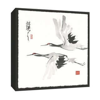 "PTM Images 9-152959  PTM Canvas Collection 12"" x 12"" - ""Zen Crane I"" Giclee Cranes Textual Art Print on Canvas"