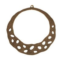 Vintaj Natural Brass Artisan Hoop Pendant 47x52mm (1)