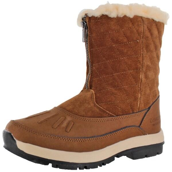 Maryanne Women's Sheepkin Waterproof Snow Zip-Up Duck Boots