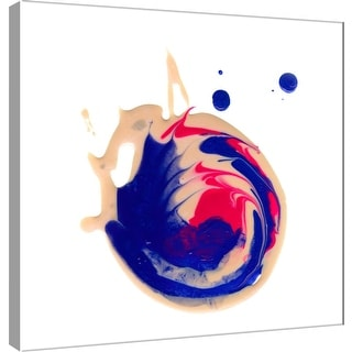 """PTM Images 9-101050  PTM Canvas Collection 12"""" x 12"""" - """"Polished in Blue and Pink"""" Giclee Abstract Art Print on Canvas"""