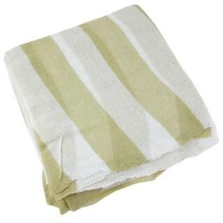 Lightweight Tan / White Striped Gauze Neck Scarf