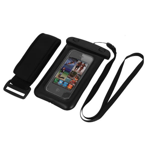 Waterproof Bag Holder Black for iPhone6 w Neck Strap Armband Earphone