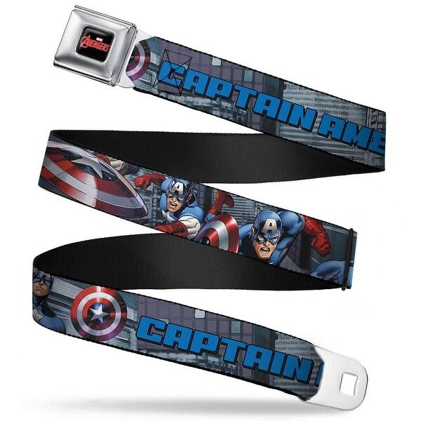 Marvel Avengers marvel Avengers Logo Full Color Black Red White Captain Seatbelt Belt