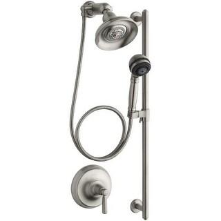 Kohler K-10828-4 Bancroft Single Handle Shower System with Multi-function Hand Shower