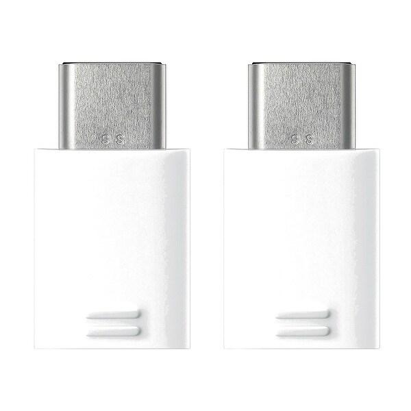 Samsung USB Type-C to Micro USB Adapter - White (2 Pack) USB Type-C to Micro USB Adapter