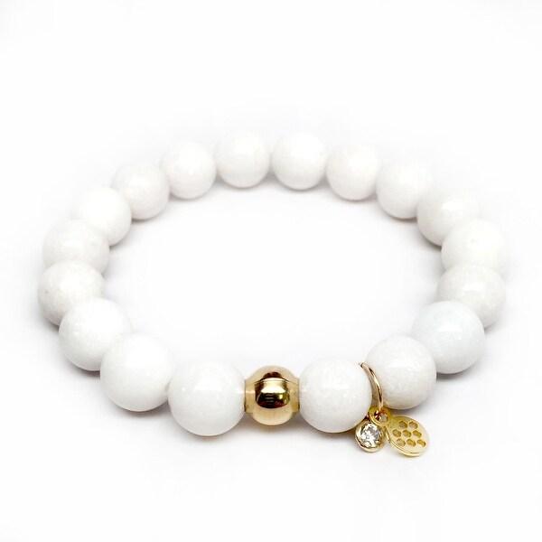 "White Jade Emma 7"" Bracelet"