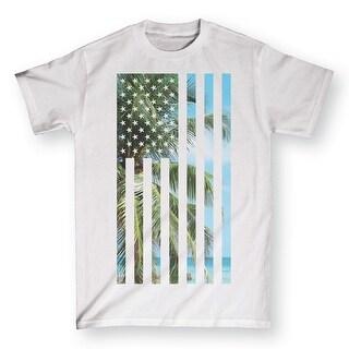 Usa Beach Flag Fill-Adult Adult Short Sleeve Tee
