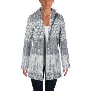 Lafayette 148 Womens Wool Blend Open Front Open-Front Blazer - M