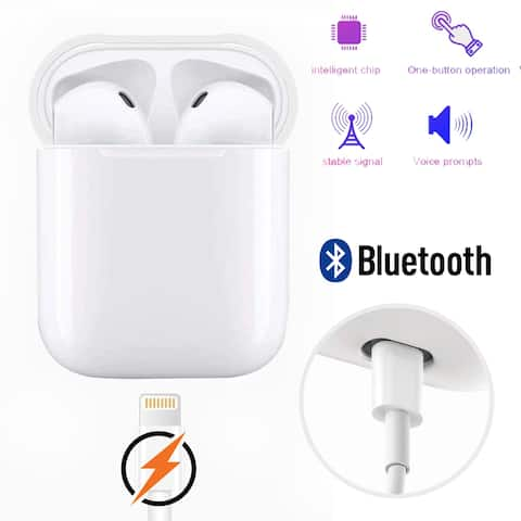 Trendy Wireless Earbuds Sport Stereo Sync Auto Pair Built in Mic Wireless Charging Noise Cancelling IOS ANDROID