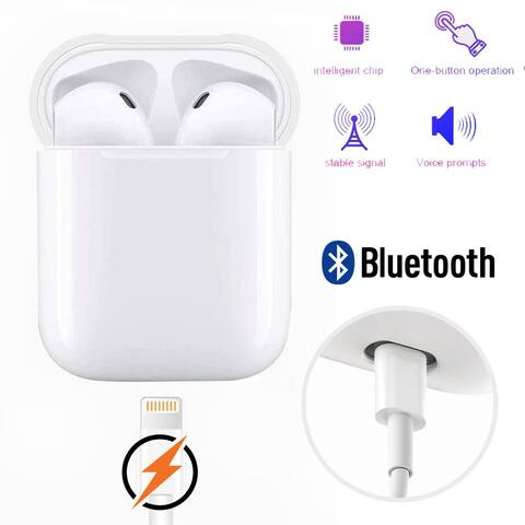 True Wireless EarBuds with Auto Pairing & Magnetic Charging Case - Bluetooth 5.0 Headphone EarPods Headset with Microphone