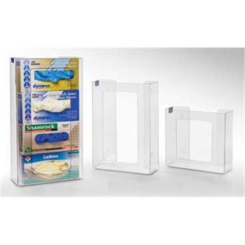 RackEm Racks 2-Box Vertical Stacking Glove Dispensers - Clear Plastic