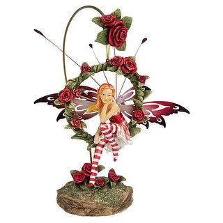 Design Toscano Radiant Rose Dangling Fairy Sculpture with Stand