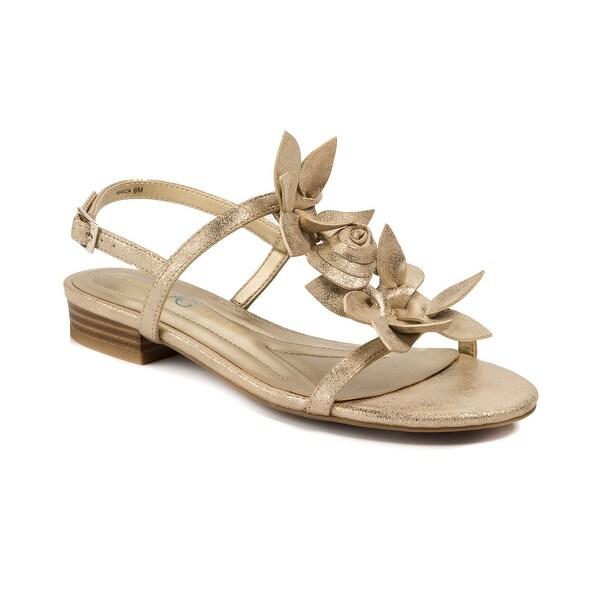 Andrew Geller Waica Women's Sandals & Flip Flops Soft Gold
