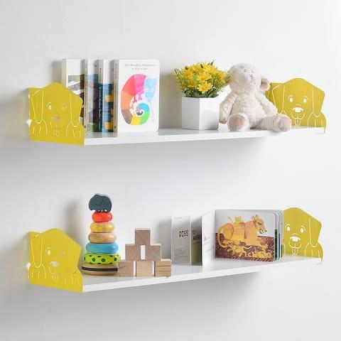 Funimal Floating Shelf 2-pk with Dog Bracket