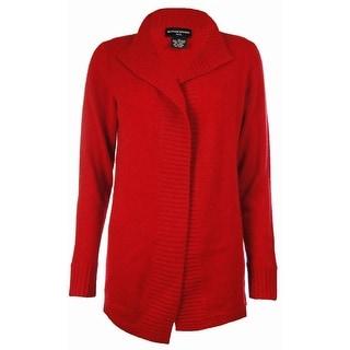 Sutton Studio Womens Cashmere Open Cardigan Sweater Petite
