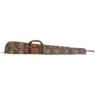 "3D Western Gun Case Camo Leather Padded 54"" x 8 1/4"" Camo Oak Tan G124"