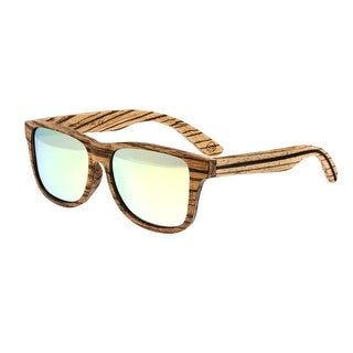 Earth Wood Solana Unisex Wood Sunglasses - 100% UVA/UVB Prorection - Polarized/Mirrored Lens - Multi