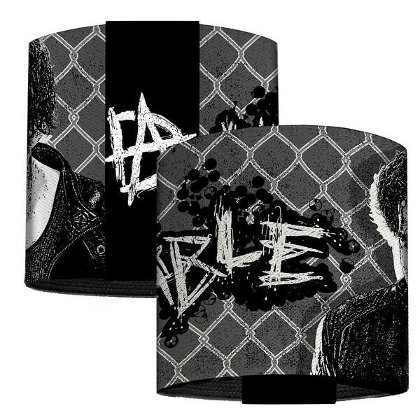 Dean Ambrose Pose Unstable Chain Link Grays Black White Elastic Wrist Cuff