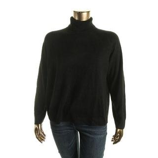 Karen Scott Womens Plus Solid Long Sleeve Pullover Sweater - 1X