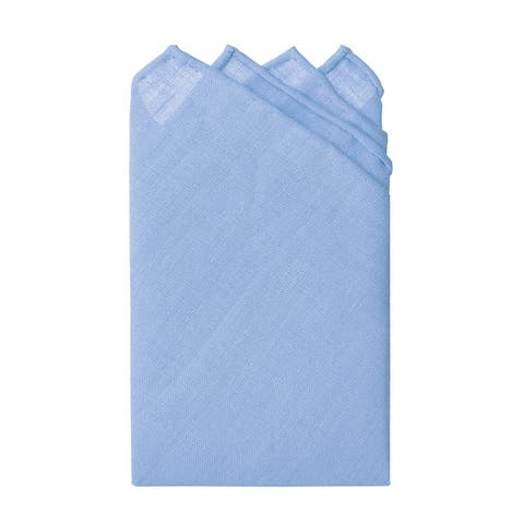 """Jacob Alexander Linen Handrolled 15"""" x 15"""" Pocket Square Hanky - One Size"""