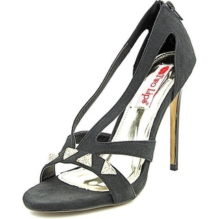 Two Lips Pyramid Women Open Toe Canvas Sandals