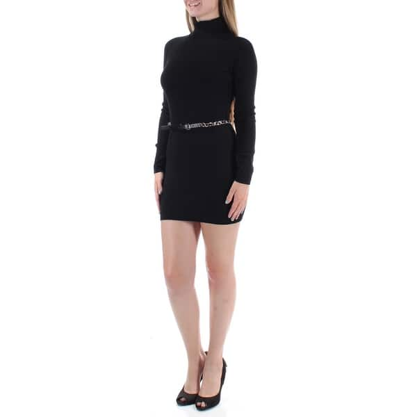 Shop Inc 70 Womens 1409 Black Turtle Neck Long Sleeve Tunic Wear To Work Dress M B B Overstock 22423269