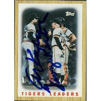 Signed Tigers Detroit Al Kaline  George Kell 1987 Topps Baseball Card by Al Kaline and George Kell